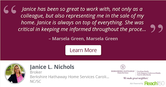 Marsela  Green recommends Janice L. Nichols at Berkshire Hathaway Home Services Carolinas Realty - Charlotte/Ballantyne