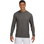 A4 N3165 Long-Sleeve Cooling Performance Crew Graphite