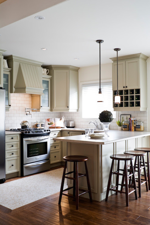 Light Taupe Cabinets - Transitional - kitchen - Toronto ...