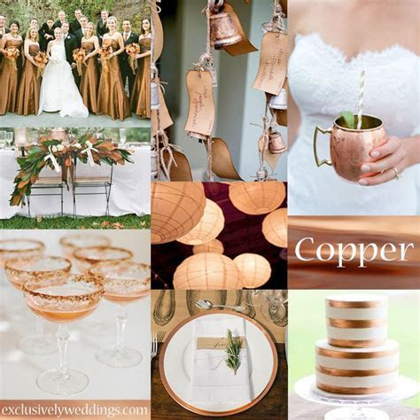 Copper Wedding Color   #exclusivelyweddings Good for fall