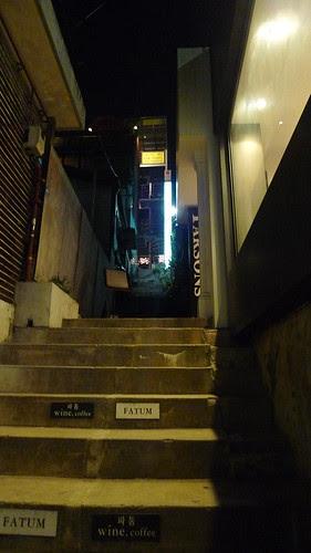 Through the alley
