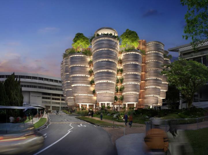 perierga.gr - Πανεπιστήμιο στη Σιγκαπούρη θυμίζει... κυψέλη!