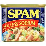 Spam Spam, Less Sodium - 12 oz