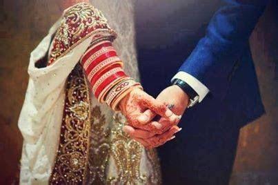 Bride & Groom Hold Hands   South Asian weddings