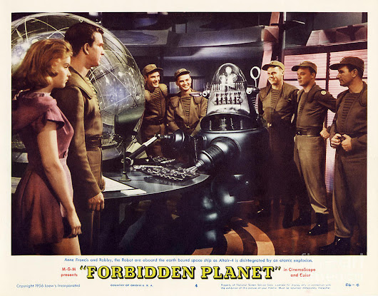 Forbidden Planet In Cinemascope Retro Classic Movie Poster Landscape by R Muirhead Art