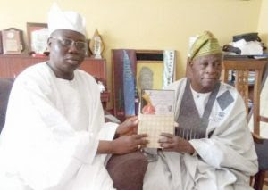 Aare Gani Adams, left, with Chief Olu Falae...