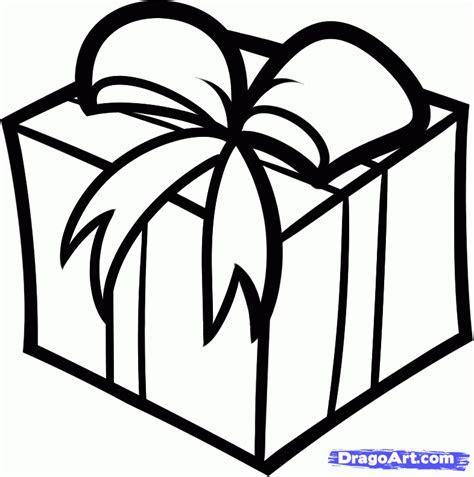 draw  christmas gift step  step christmas
