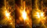 NASA: Trei explozii solare puternice au fost înregistrate în ultimele două zile