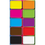 2 x 1.50 in. Colors Design Mini Whiteboard Erasers Dryers - Multicolor UP511787