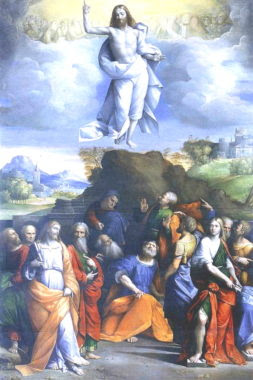 BenvenutoTisiDaGarofaloAscensionOfChristWGA08474 for post on the Ascension of Our Lord: Forty Days after Easter