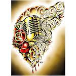 Hart & Soul by Tyler Bredeweg Vintage Microphone Tattoo Poster Print - Medium