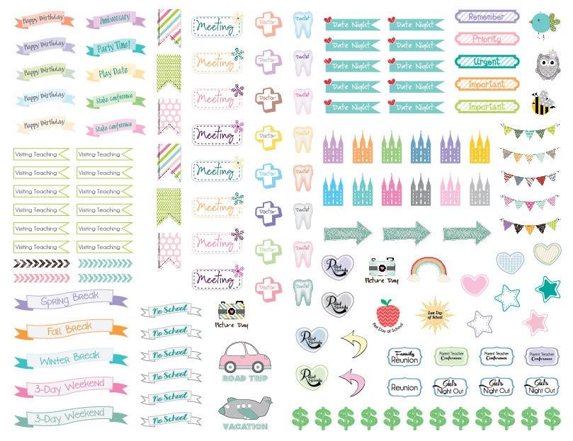 Colorful calendar   Etsy