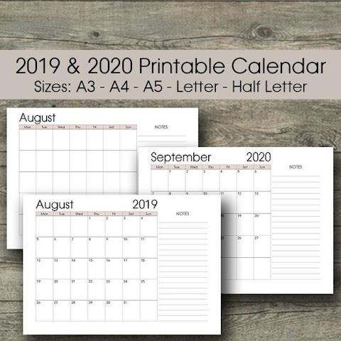2020 Calendar Template A3