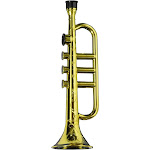 Plastic Gold Brass Colored Trumpet Kazoo Horn Novelty Costume Accessory