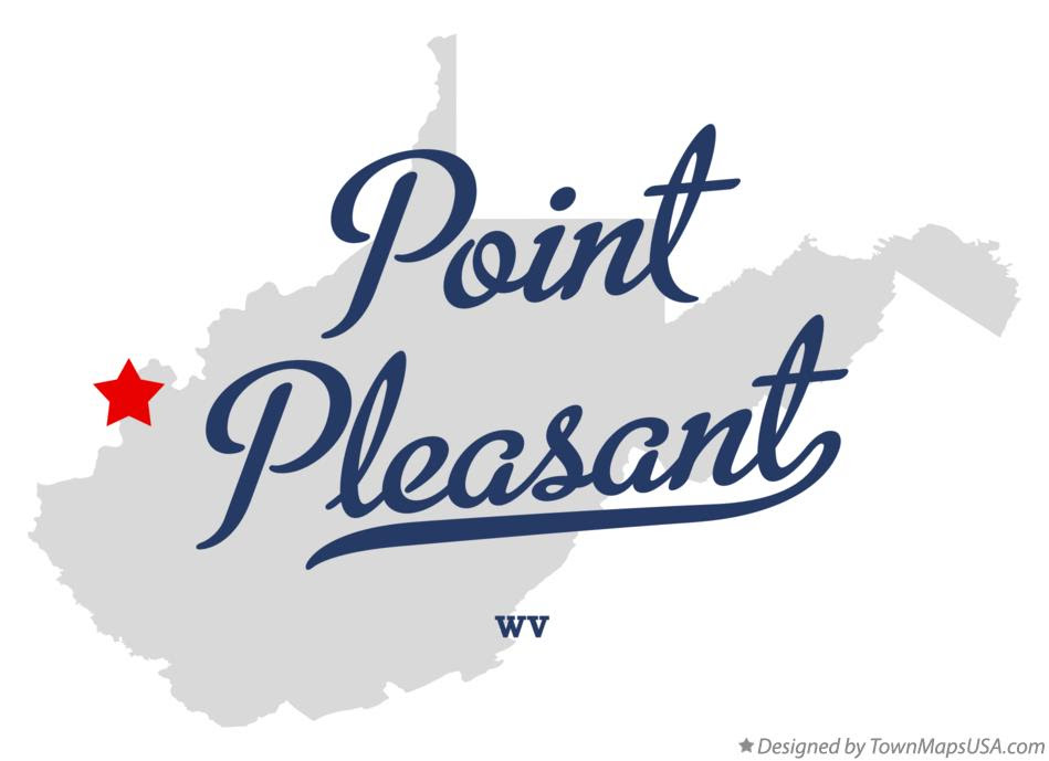 Map Of Point Pleasant Wv West Virginia