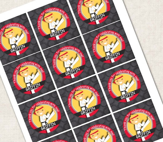 Karate Birthday Party Cupcake Toppers / by missbellaexpressions