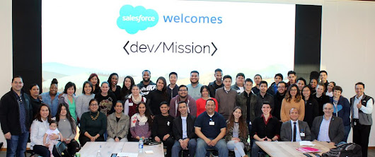 Salesforce hosts Mission District tech students