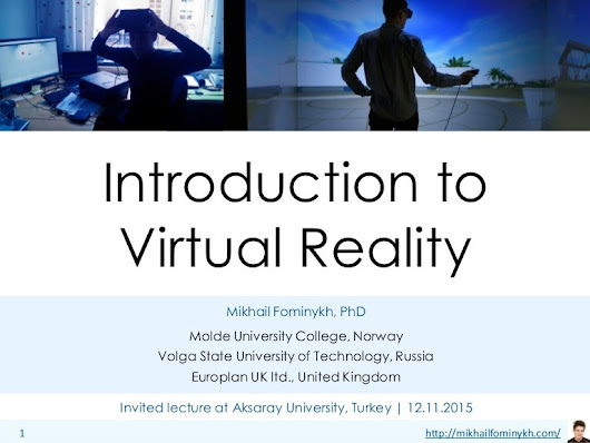 Introduction to Virtual Reality lecture 2015