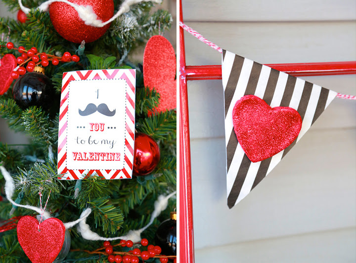 Valentines Day Front Door Decor with mustaches by Design Loves Detail02