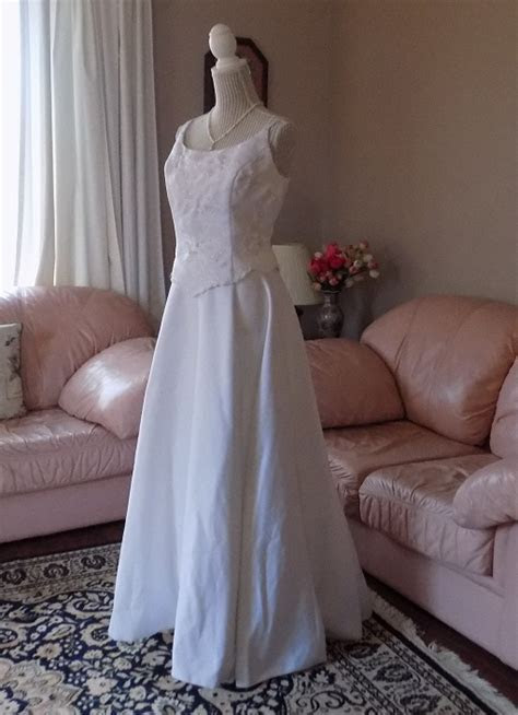 Two Piece white Alfred Angelo Wedding Gown for rent