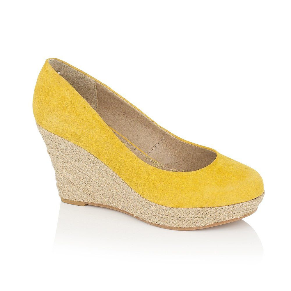 Lotus Caterina Shoes Yellow Suede