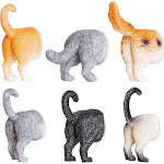 Juvale Set of 6 Cat Butt Magnets - Funny Animal Refrigerator Magnets, Perfect Animal Lover Gifts
