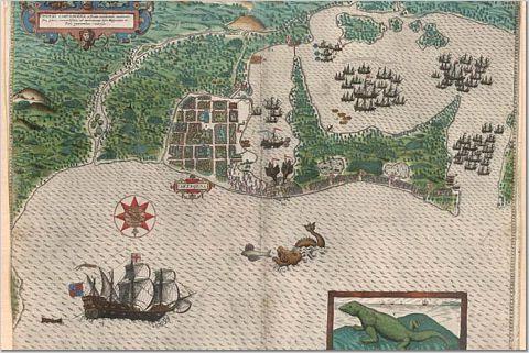 drake lurking & general nuisance making around cartagena 1586 AD