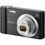 Sony Cyber-Shot DSC-W800 20.1 MP Compact Digital Camera - 720p - Black