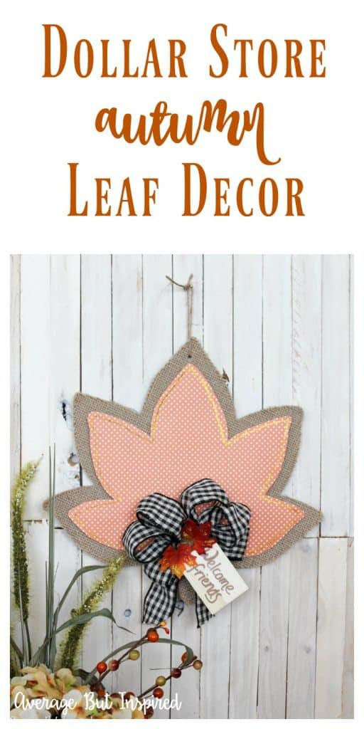 dollar store leaf decor upcycle