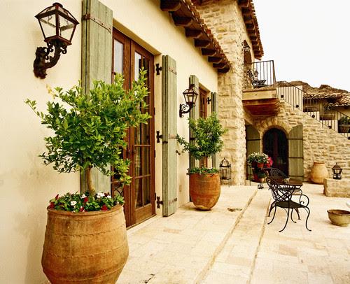 exterior spaces mediterranean exterior