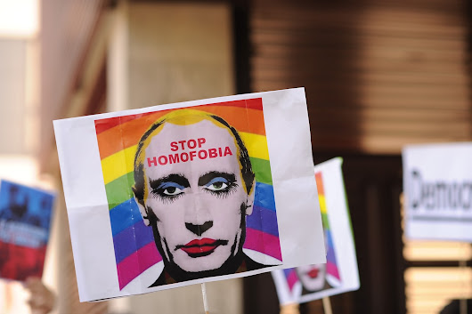 It's now illegal in Russia to share an image of Putin as a gay clown