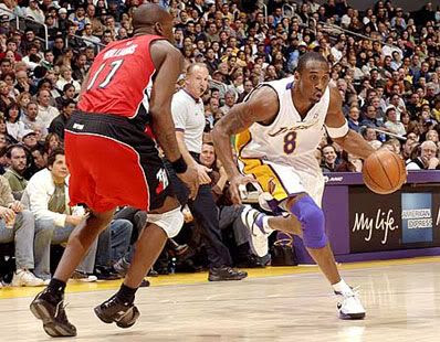 Kobe Bryant scores 81 points against the Toronto Raptors on January 22, 2006.