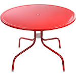 """39.25"""" Red Outdoor Retro Metal Tulip Dining Table by Christmas Central"""