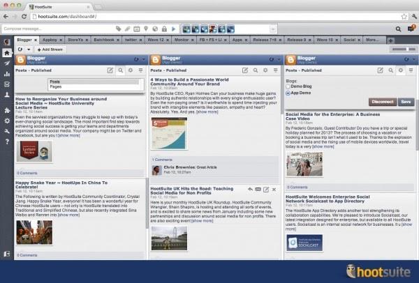HootSuite anuncia su integración en Blogger