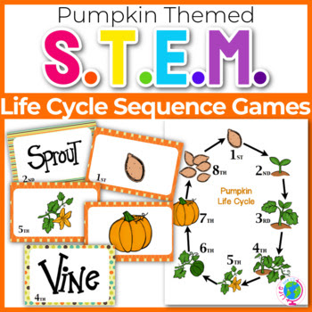"""Sequencing with Pumpkin Life Cycle """"War"""" card game center"""