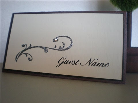 Wedding or Dinner Party Tent Place Cards