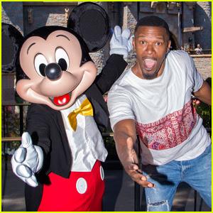 Jamie Foxx Celebrates July Fourth Weekend at Disneyland!