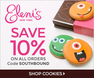 Save 10% with code SOUTHBOUND at Eleni's
