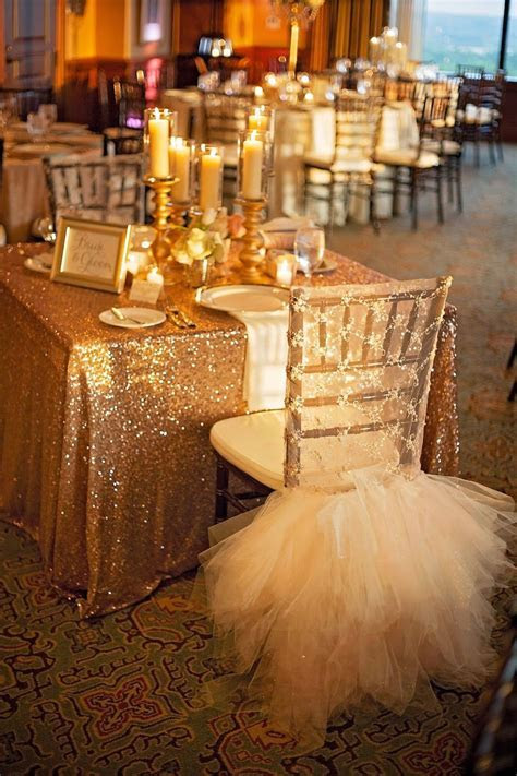 Lace and Tulle chair cover, sequin tablecloth, sweetheart