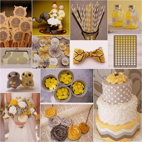 Yellow and Grey Wedding Theme   A delightful mix of yellow