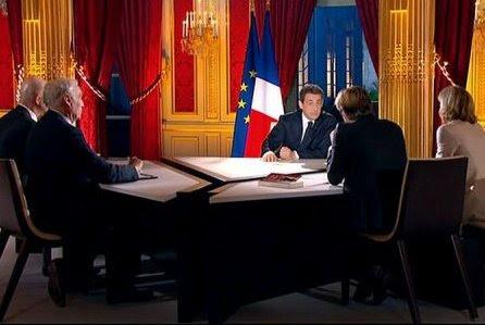 Sarko intervention télévisée 29 janvier 2012