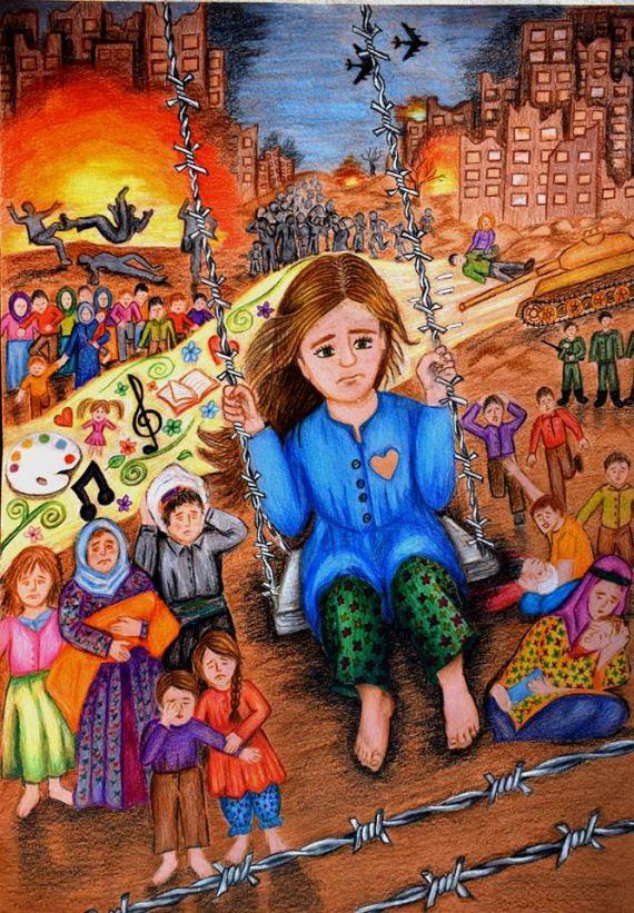 Göç Ve Empati Konulu Ulusal Resim Yarışmasında Türkiye 3lüğü