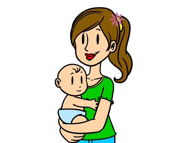 Dibujo De En Brazos De Mamá Pintado Por Genesis23 En Dibujosnet El