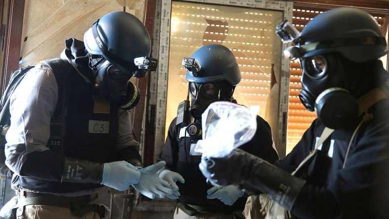 On Wednesday, the regime must evacuate 500 tons of its chemical arsenal