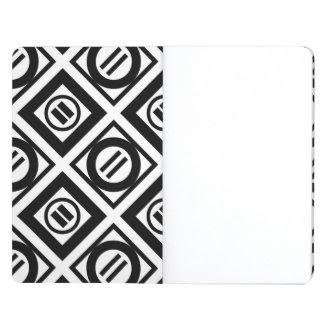 Stylish Black Geometric Pattern Journal