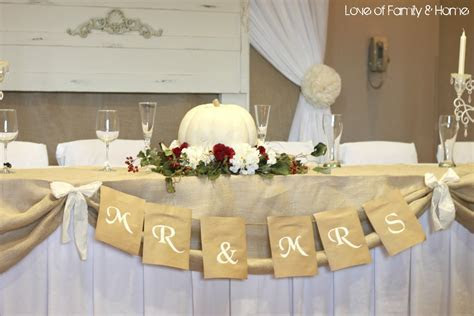 DIY Wedding Word Banners    Love of Family & Home