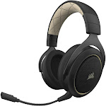 Corsair HS70 SE Wireless Over-the-Ear Gaming Headset for PC - Black/Cream