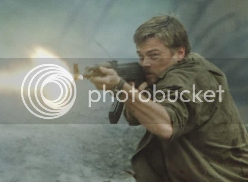 Leo firing AK on semi