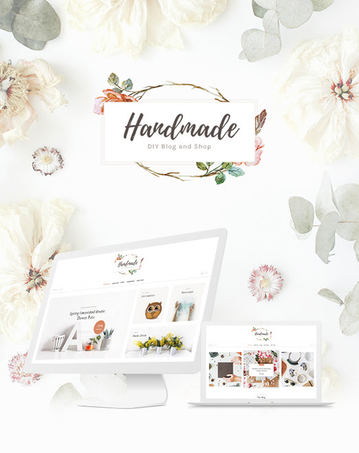 Handmade Shop - Handicraft Portfolio Blog & Creative Shop WordPress Theme | Premium WordPress Website Blogging Themes