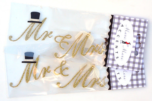 Mr  & Mrs stickers